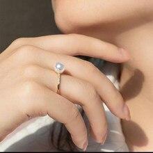 Momiji artesanal boêmio jóias presente de água doce pérola anéis para as mulheres charme para o casamento ceremon anéis ajustável