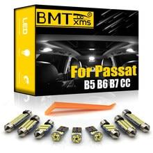 BMTxms – Kit d'éclairage intérieur pour voiture, pour Volkswagen VW Passat B5 B6 B7 CC Sedan 1997 – 2014 véhicule, lampe dôme, ampoules Canbus