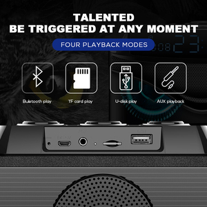 Image 5 - SOAIY S68 ミニ LED スピーカー 25 ワットポータブルワイヤレス Bluetooth スピーカースマート低音屋外 3 ドライバサポート FM TF 高速船