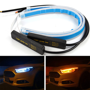 PAIEIMAI 2pcs Cars DRL led daytime running lights Flexible Soft Tube Guide Car LED Strip Light Waterproof Turn Signal Lamp