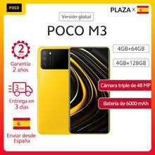 POCO M3 teléfono inteligente 4GB 64GB/4GB 128GB, Snapdragon 662, Triple Cámara, 6000mAh versión Global teléfono móvil pocom3