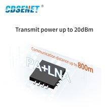 E01-2G4M20S1B nRF24L01 2.4GHz PCB Antenna SMD Module PA LNA Long Distance SPI Transceiver