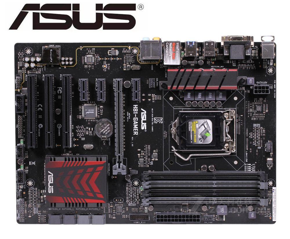 ASUS H81-GAMER Desktop Motherboard For Intel  LGA 1150 DDR3 For I3 I5 I7 Cpu 16GB H81 Used Mainboard PC Boards
