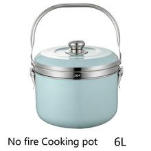 304 нержавеющая сталь, не огонь, готовьте снова, кастрюля, пароварка, энергосберегающий горшок, холдинг, каша, горшок, Bento, горшок