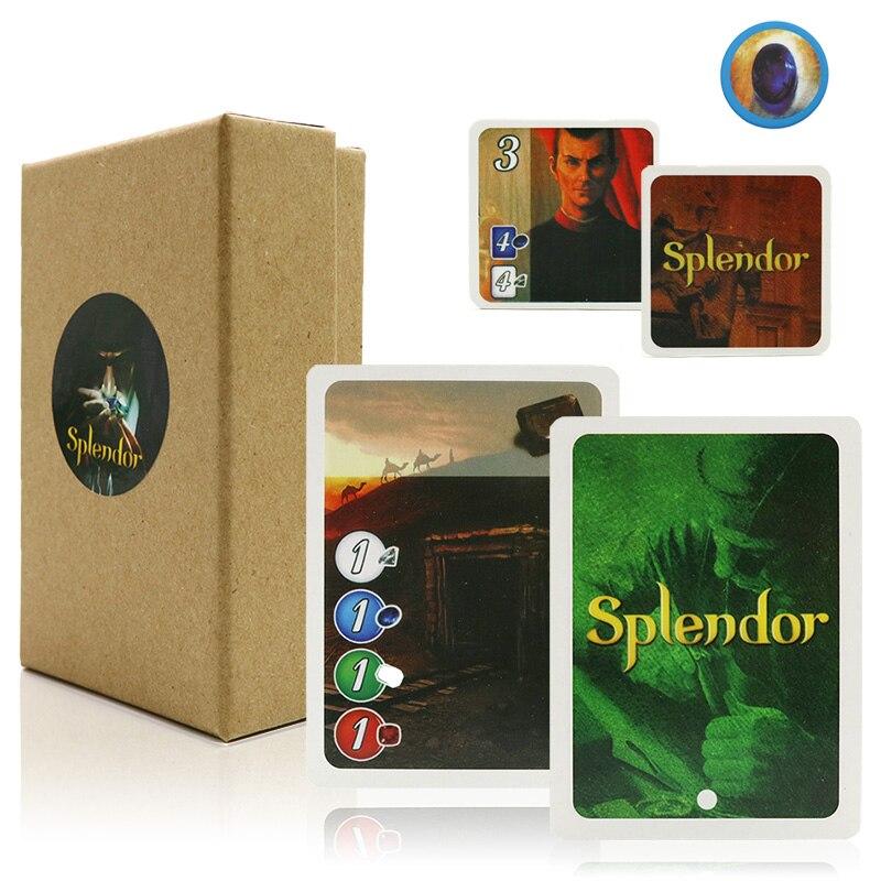 İngilizce ve İspanyolca Splendor masa oyunu ev partisi için yetişkin finansmanı yatırım eğitim oynayan kart oyunu