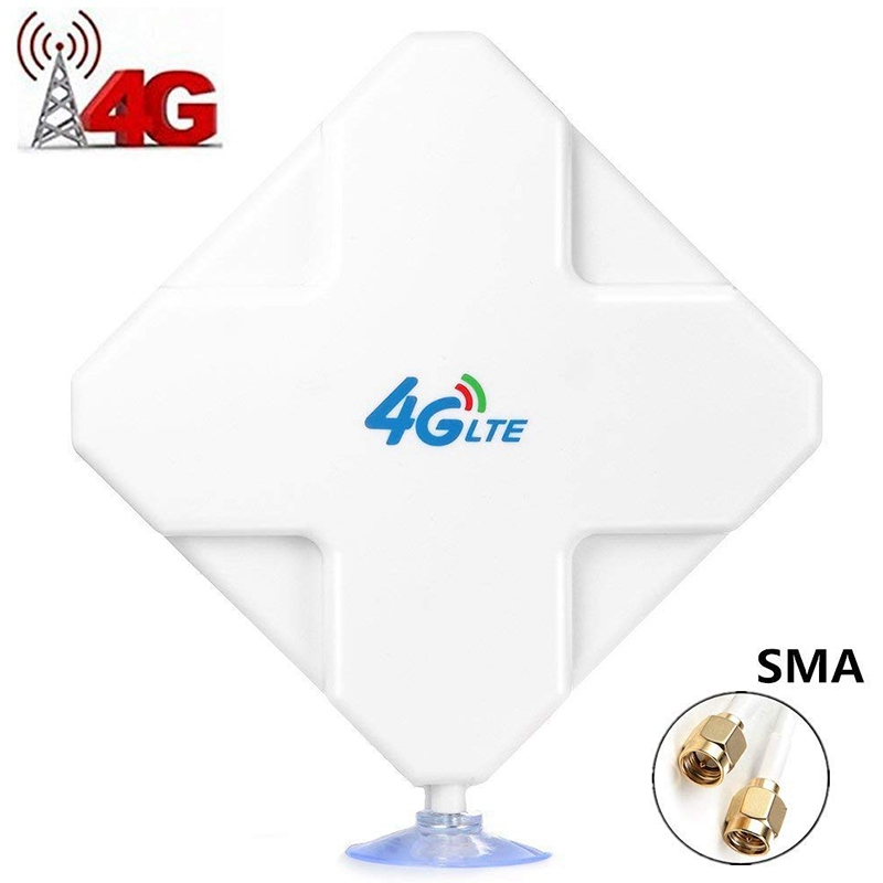 4G LTE SMA Antenna 35DBi High Gain Antenna Dual SMA Connector Signal Booster for Huawei ZTE Vodafone Hotspot Router