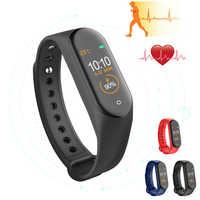 New M4 Smart Band Wristbands Fitness Tracker Health Heart Rate Blood Pressure Monitor Bluetooth Sports Bracelet PK Mi Band 4 3