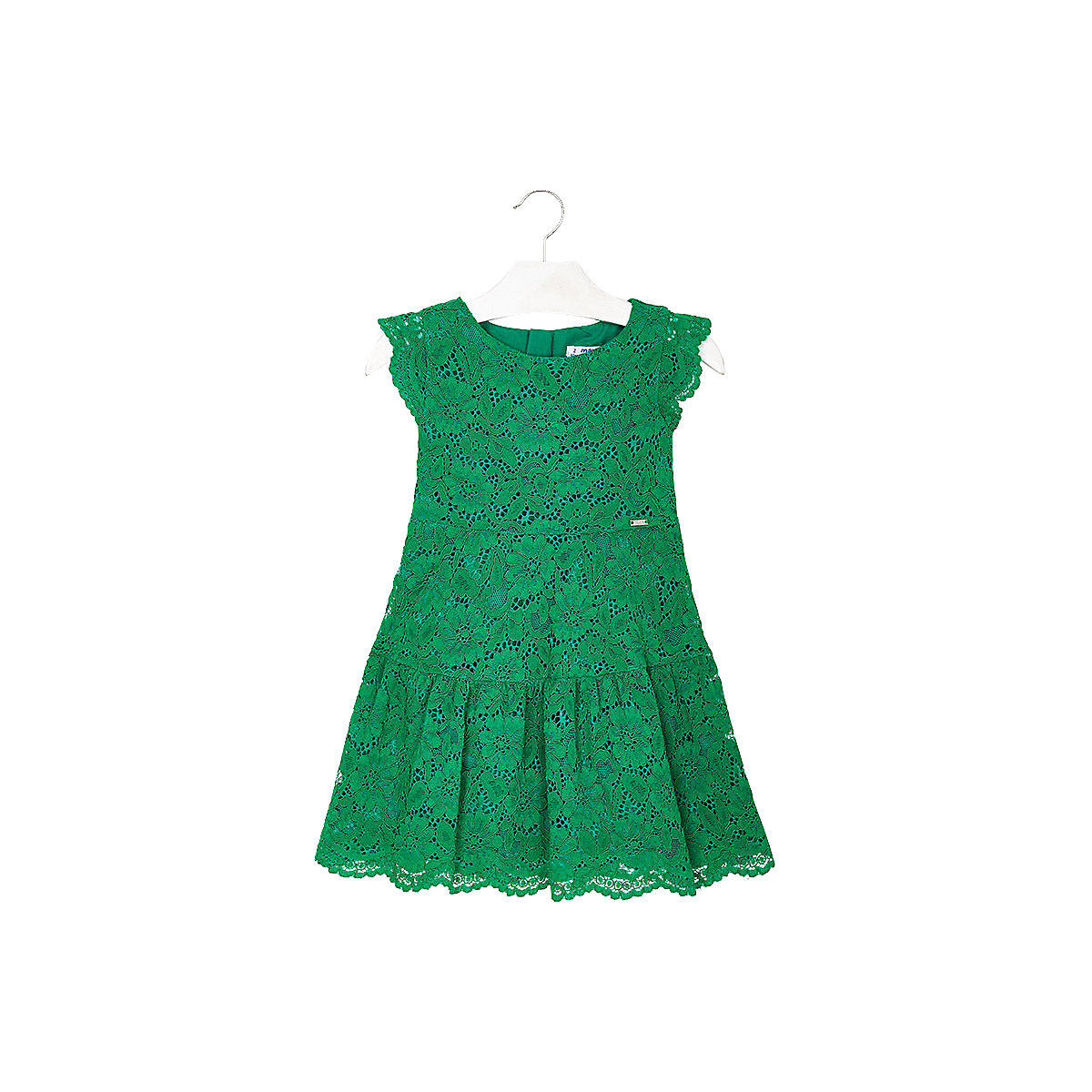 MAYORAL Dresses 10678732 Girl Children Party fitted pleated skirt Green Cotton Preppy Style Floral Knee-Length Short Sleeve navy velvet mini pleated skirt