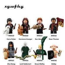 Harry Magic Figures Fantastic Beasts Hagrid Dobby Snape Dumbledore Ron Hermione Lord Voldemort Model building Blocks Toys JM109
