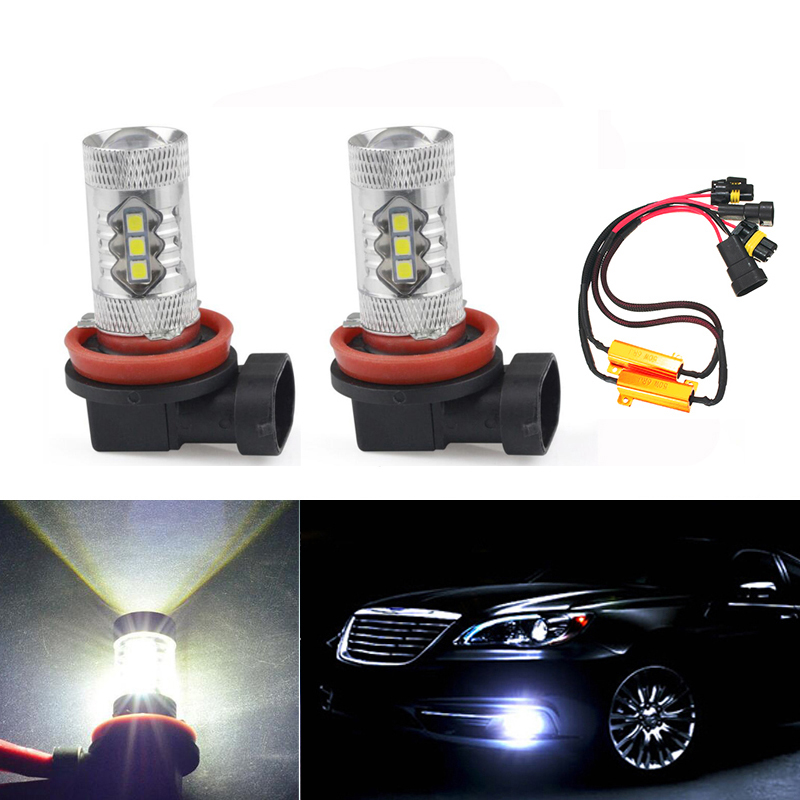 2X Super White H8 H11 CREE Chip 3030SMD 16LED Fog <font><b>Light</b></font> Driving Bulbs No Error For Mercedes <font><b>Benz</b></font> W211 W212 W164 <font><b>W221</b></font> image
