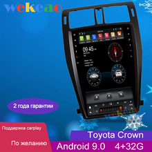 """Wekeao 13.6"""" Vertical Screen Tesla Style Android 9.0 Auto Radio For Toyota Crown Car Dvd Multimedia Player GPS Navigation 4G"""