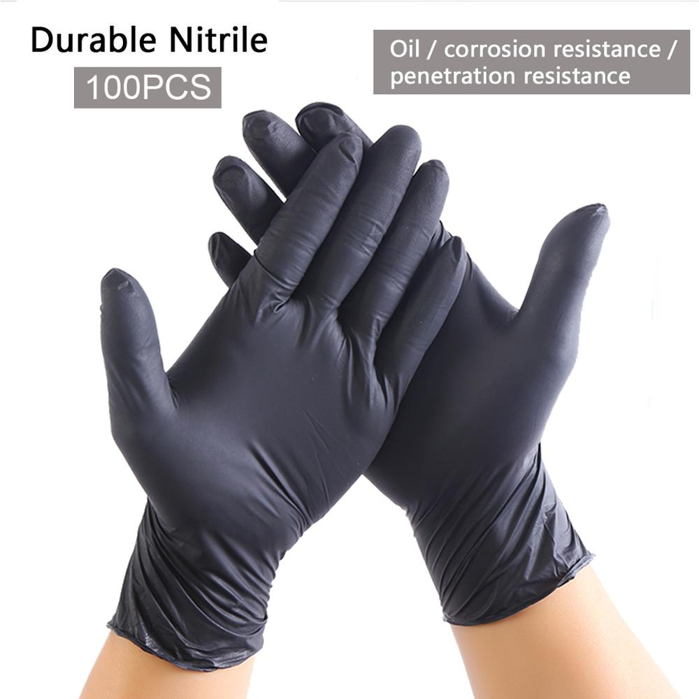 Anti Infection 100pcs Gloves Disposable Nitriel Resistance Chemical Laboratory Electronics Food Grade Home Cleaning Tattoo Glove