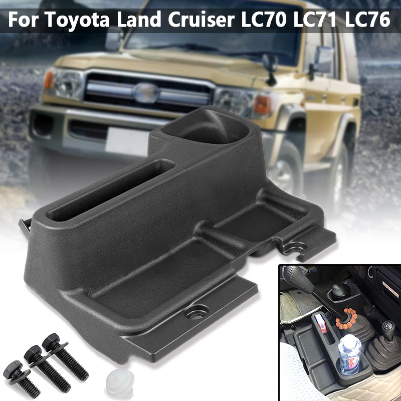 Car Center Console Storage Box Accessories ABS Tray Case For <font><b>Toyota</b></font> Land Cruiser LC70 LC71 <font><b>LC76</b></font> LC78 image