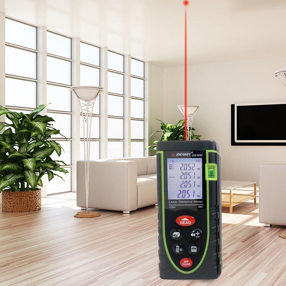 Hand-Laser Abstand Meter 50M 60M 100M Infrarot Laser-entfernungsmesser Bauen Messen Gerät Für Bereich /volumen/Winkel Messen Werkzeug