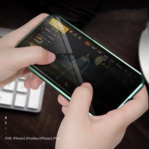 Image 5 - Dla iPhone 11 Pro Max przypadku luksusowe magnetyczne anty ciekawski z przodu z tyłu szkło hartowane 360 magnes Antispy ochronna pokrywa Coque