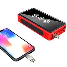 بنك طاقة لاسلكي 4 USB 30000 mAh شاحن بطارية محمول يعمل بالطاقة الشمسية بطارية محمولة خارجية حزمة شاحن ل Xiao mi mi 3 آيفون PoverBank