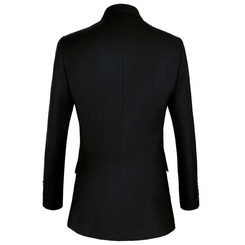 Shenrun garnitury męskie Slim pasują do nowych moda garnitur podwójne piersi klapa zamknięta granatowy czarny ślub pan młody na imprezę bal chudy kostium
