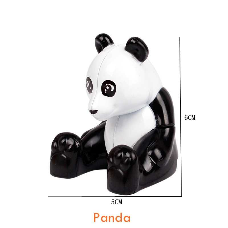 デュプロ動物恐竜象パンダ猿キリン動物園モデルフィギュアビッグサイズビルディングブロック diy の教育玩具