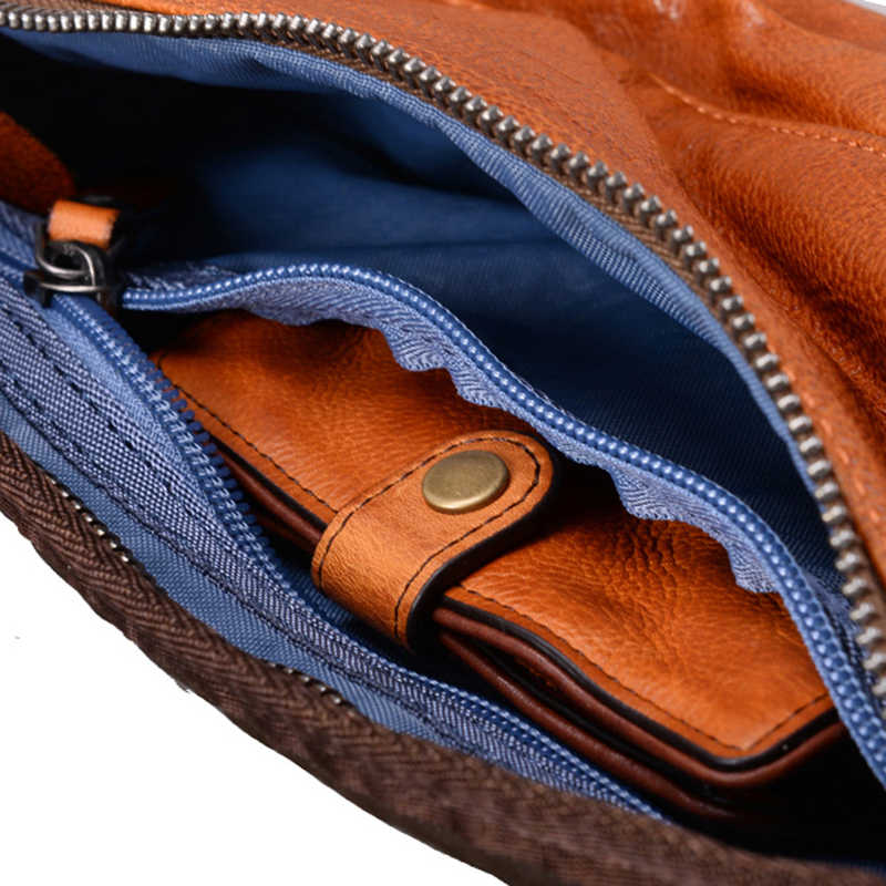 Berühmte Marke Original Retro Echtem Leder Kleine Männer Brust Pack Neueste Hohe Qualität Männlichen Busen Tasche Einfache Brust Taschen Taille pack