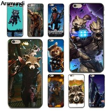 Arsmundi Movie Rocket Raccoon Phone Cases for iPhone 4S 5S 6S 7 8 Plus X XS XR 11 Pro for Samsung Case Soft TPU Rubber Silicone(China)