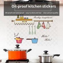 Обои для духовки, столовой, маслостойкие настенные наклейки, жаростойкие, кухонный декор, самоклеющиеся, водонепроницаемые, настенные наклейки, 1 шт