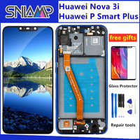 Original LCD For Huawei P Smart Plus DIsplay Touch Screen +Frame Digitizer Assembly For Nova 3i LCD Screen INE LX1 INE L21