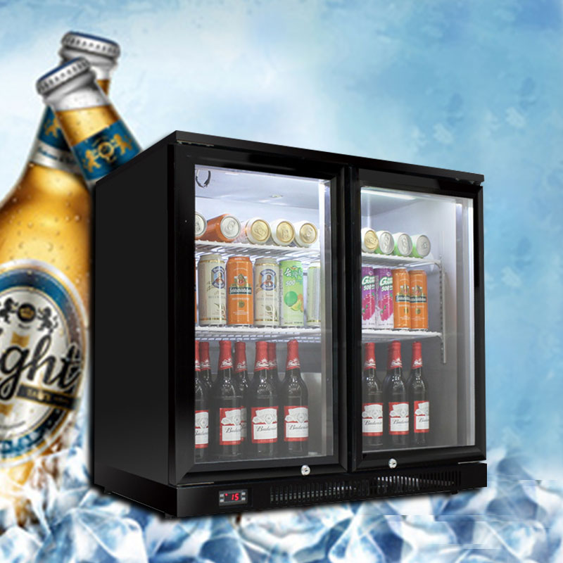 Green Zero Bar KTV Beer Beverage Refrigerated Counter Freezer Commercial Desktop Air Cooled Display Refrigerator