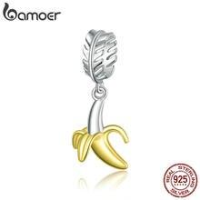Bamoer – perles pour la fabrication de bijoux en argent Sterling 925, breloque banane amusante pour Bracelet Original en argent à faire soi-même, SCC1592