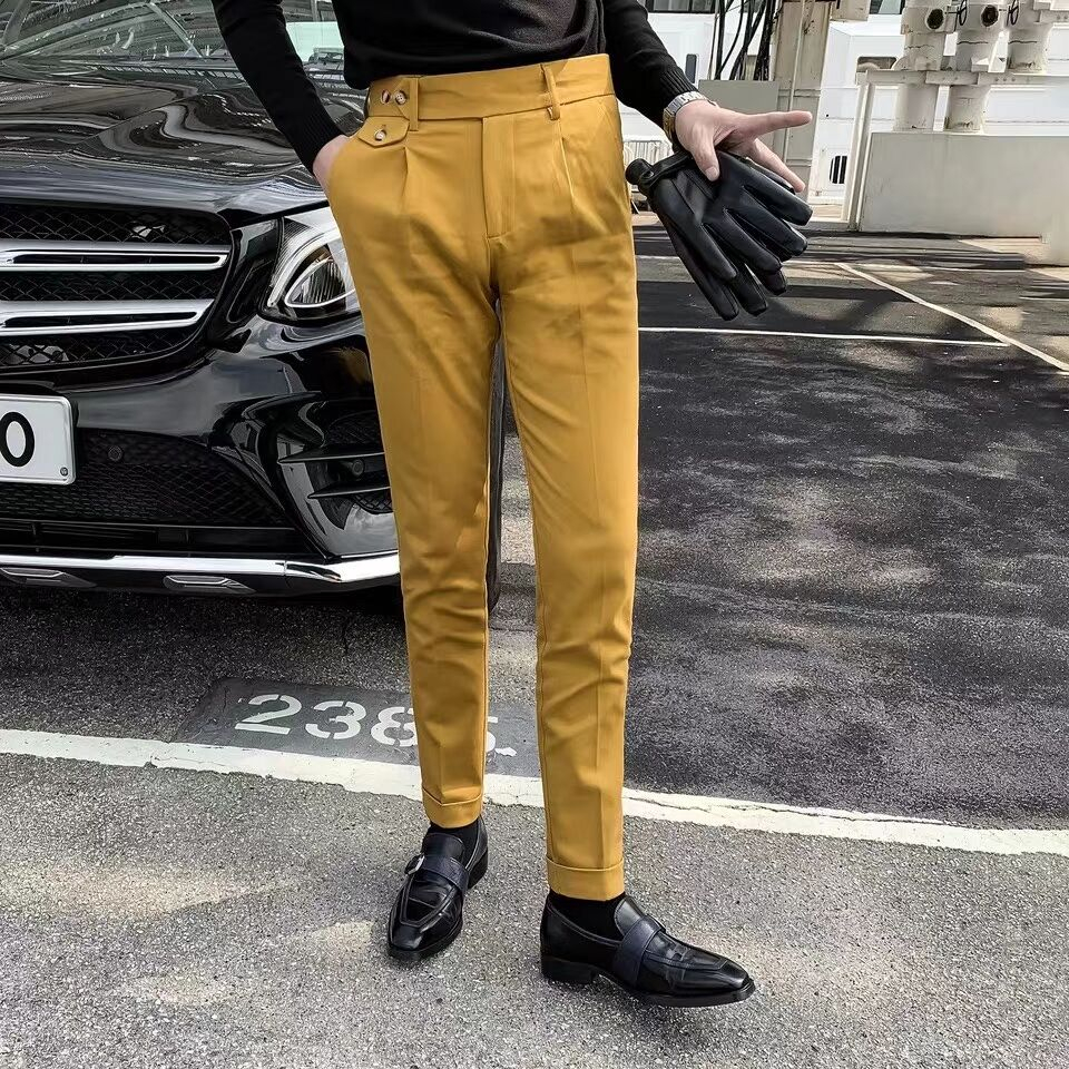 Office Pants Men 3 Color 2020 Spring Dress Pant Slim Fit Pants Fashion Solid Suit Pant Erkek Pantolon Skinny Fit Moda Masculina