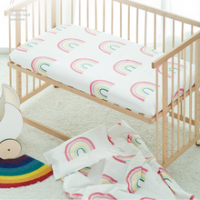 100% Cotton Crib Fitted Sheet Soft Baby Bed Mattress Cover Protector Cartoon Newborn Bedding