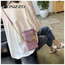 Fosizzo модная женская сумка через плечо из искусственной кожи