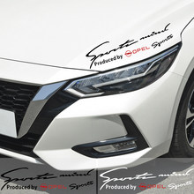 Car Styling Vinyl Lamp Eyebrow Sticker Reflective Sports Decal Decor For Opel Astra H G Corsa Insignia Astra Antara Accessories(China)
