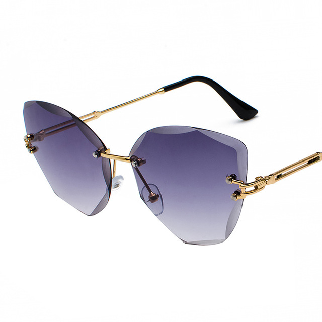 XaYbZc DESIGN Fashion Lady Sun glasses 2020 Rimless Women Sunglasses Vintage Alloy Frame Classic Brand Designer Shades Oculo 2