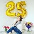 32/40 дюймов золотистые номер 25 Алюминий Фольга шар с днем рождения Юбилей украшение шар для мальчиков и девочек 25th лет вечерние Декор