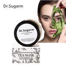 Masque à thé vert, dissolvant de points noirs pour le nez, rétrécissement des pores, Peeling, traitement de l'acné, nettoyage en profondeur, en poudre, 50g