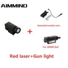 Красный точечный лазерный прицел тактический светодиодный фонарик