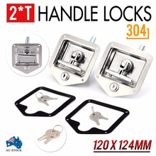 2pcs Car Folding T-Shaped Handle Lock Stainless Steel Trailer RV Caravan Truck Engineering Vehicles Latch Toolbox Knob Locks truck lock door hardware car cabinet lock fire box toolcase trailer lock industrial engineering machinery equipment handle knob
