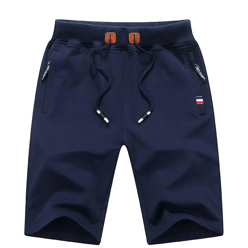 Men's Summer Breeches Shorts 2021 Cotton Casual Bermudas Black