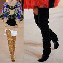 Siddons/2020; Высокие сапоги до бедра для подиума; Женская обувь