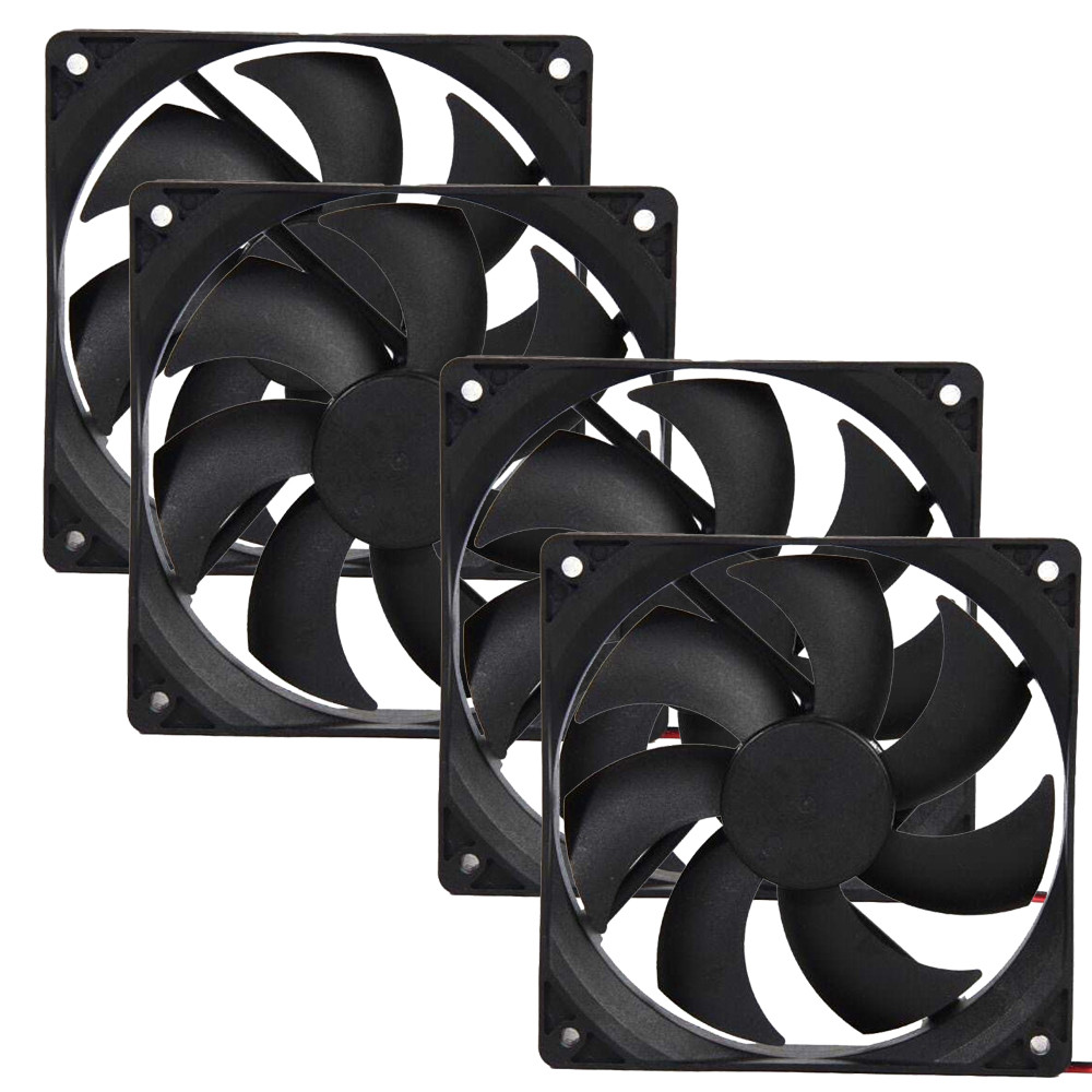 4pcs 120mm 120x25mm 12V 4Pin DC Brushless PC Computer Case Cooling Fan 1800PRM 100% Brand New Compatible For Different Desktop