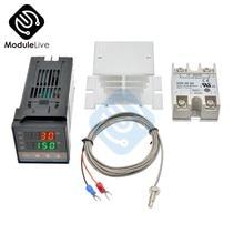 Régulateur de température Pid Rex c100 Original 1300 Ssr 40DA, relais à semi-conducteurs, Thermostat numérique, capteur de Thermocouple K