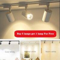 Faretti a Led 220V 20W 30W 40W faretto a Led dimmerabile COB Track Light lampada da soffitto a soffitto per soggiorno cucina illuminazione domestica