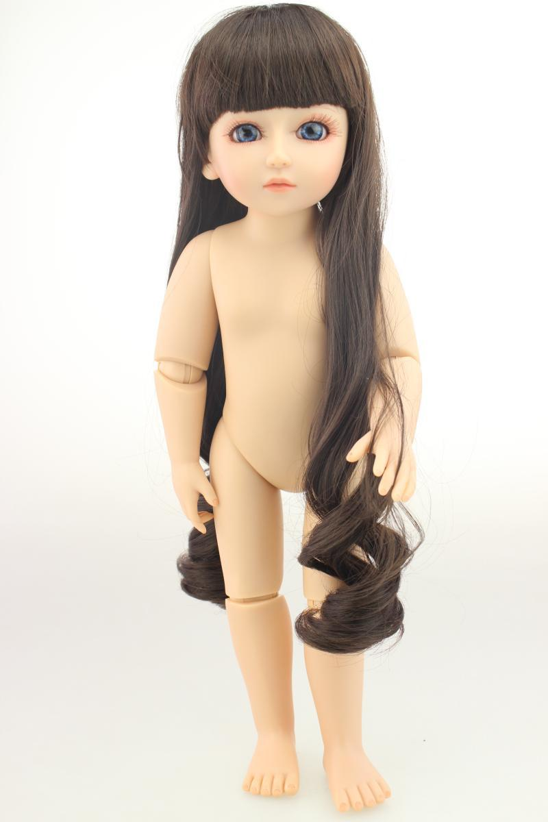 BJD Naked Baby Joints Doll-Makeup Replaceable Doll Random Combination Clothes Play House Toys