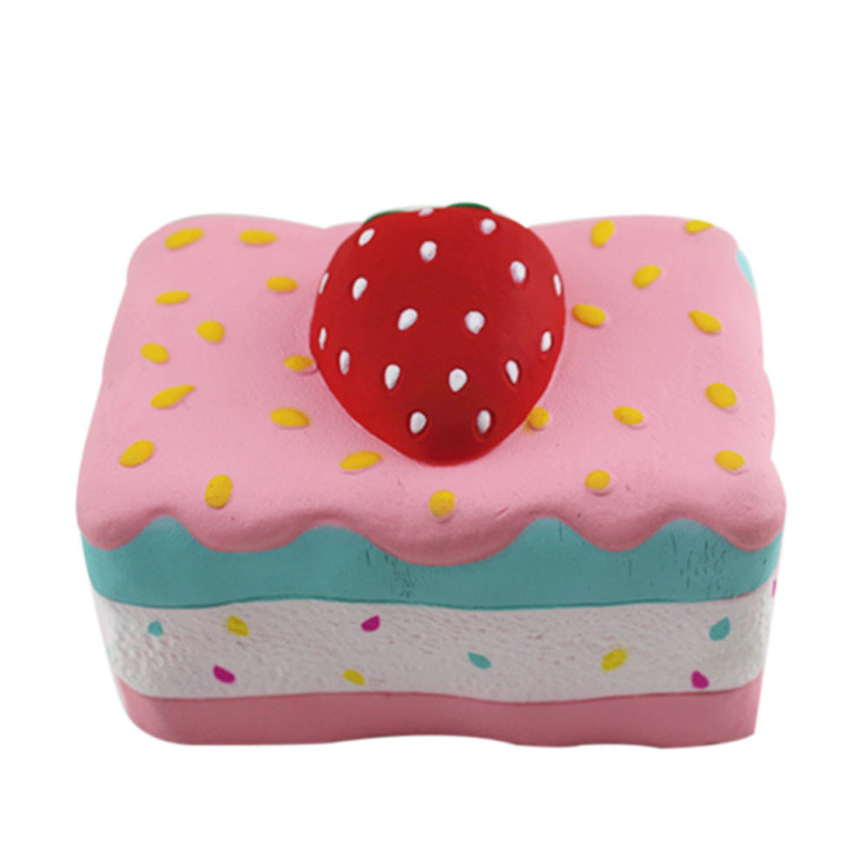 11.5x8x8cm Simulation Strawberry Cake Squishy Stress Reliever  Scented Super Slow Rising Squeeze Toy Decompression Toys A40