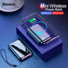 Baseus Quick Charge 3.0 Wireless Power Bank PD QC QC3.0 10000mAh Qi Wireless Charger Powerbank For Xiaomi Mini External Battery