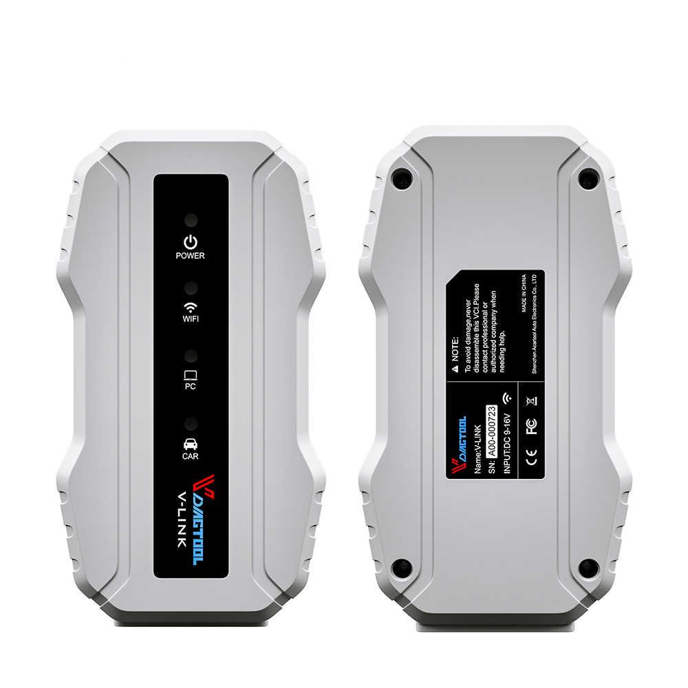 VDIAGTOOL грузовик диагностический Интерфейс для Cat3 для Volvo для Cummins V7.62 Wi-Fi версии Vlink сканер Heavy Duty инструмент