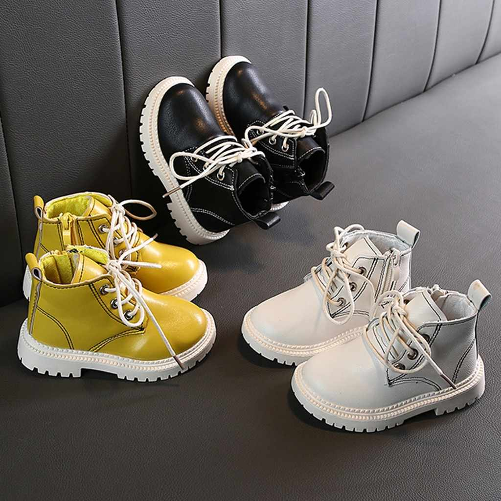 Autumn new Fashion Children's shoes Children Kid Girls Boys Ankle Sport Zip Short Boots Bootie Casual Shoes 1-3 years old