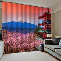 3D Digital Print Window Curtain Living Room Photo Blackout Curtains Drapes For Home Decor Japen Style Wedding Room Cortinas