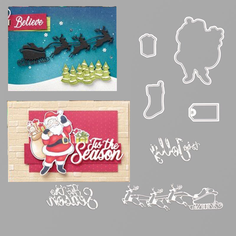 Cutting-Dies Stamps Decorative Paper-Craft-Stencil Scrapbook Embossing-Paper-Album HOLLY