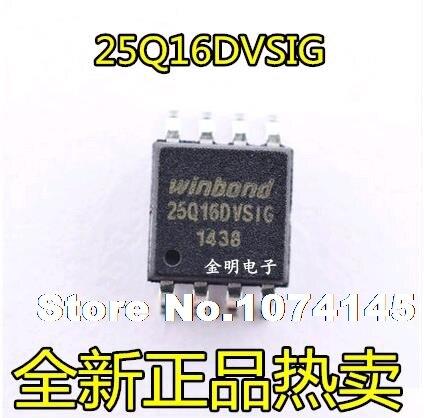 10pcs/lot W25Q16DVSSIG  SOP8 Winbond 25Q16DVSIG